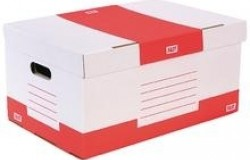 Container Boîtes Archives 525 x 355 x 270 Blanc impr Rouge