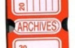 Boîte Archive 330 x 250 x 100 Rouge