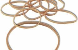 Bracelets élastiques 20 x 1.8 mm