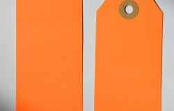 Etiquette américaine orange fluo sans fil 50 x 120 MM