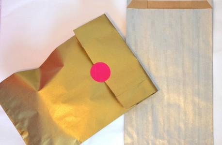 Pochettes cadeaux kraft argent 7x12 cm XS mif